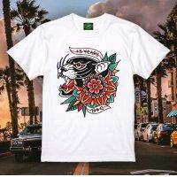 "FUCKIN' MELLOW CLOTHING / 13 Years Fuckin Up ""designed by iZUMONSTER"" 半袖 Tシャツ WHITE"