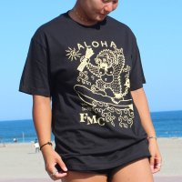 "FUCKIN' MELLOW CLOTHING / ""Aloha Gorilla"" designed by izumonster Tシャツ BLACK"