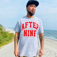 "FUCKIN' MELLOW CLOTHING / ""AFTER9 10th"" designed by PICTURE MOUSE Tシャツ GREY"