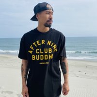 "FUCKIN' MELLOW CLOTHING / ""AFTER9 x CLUB BUDDHA"" designed by PICTURE MOUSE Tシャツ BLACK"