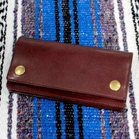 FUCKIN' MELLOW CLOTHING / Trucker Leather Wallet 長財布 BROWN