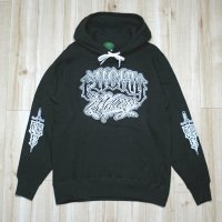 40%OFF Mサイズラスト1枚で終了 FUCKIN' MELLOW CLOTHING / Lettering Hoodie BLACK
