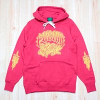 Lサイズのみ FUCKIN' MELLOW CLOTHING / Lettering Hoodie Old Red